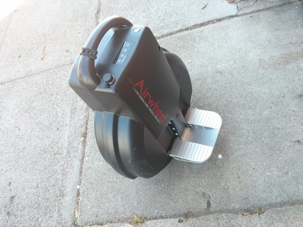 Airwheel Q3 - two wheeled self balancing electric unicycle - top angle